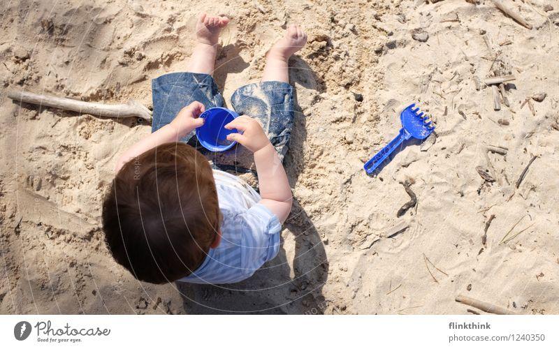 Sandsport #1 Ferien & Urlaub & Reisen Ausflug Camping Sommer Sommerurlaub Mensch Kleinkind Geschwister Bruder Familie & Verwandtschaft Kindheit Körper Kopf