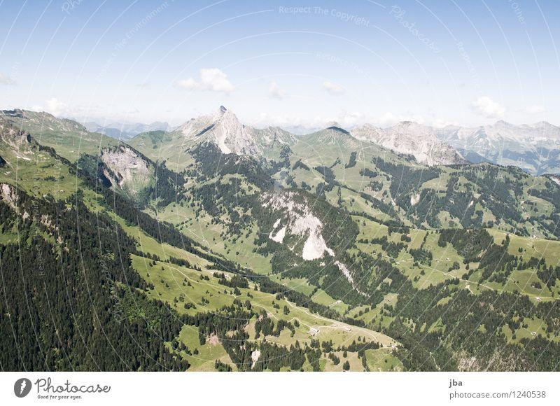 Wispile - Staldenhorn - Grund VIII Himmel Natur Sommer Erholung ruhig Ferne Berge u. Gebirge Sport Freiheit fliegen Felsen Zufriedenheit Luft Luftverkehr hoch