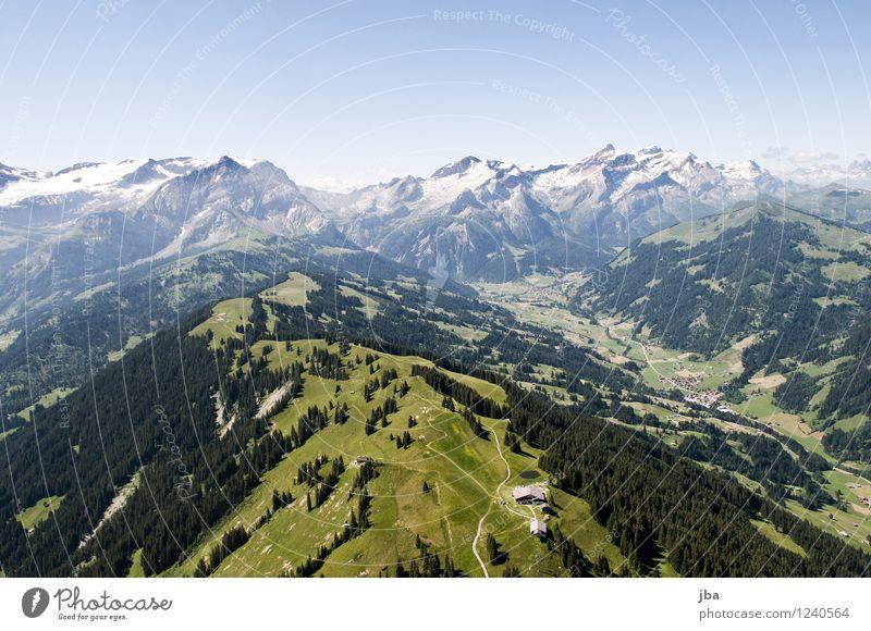 Wispile - Staldenhorn - Grund II Himmel Natur Sommer Erholung Landschaft ruhig Ferne Wald Berge u. Gebirge Sport Glück Freiheit fliegen Zufriedenheit Luft