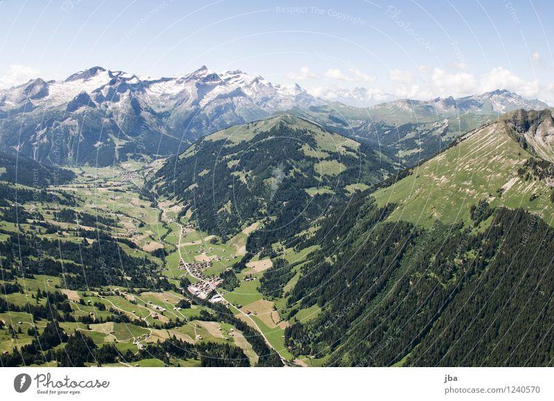 Wispile - Staldenhorn - Grund VII Himmel Natur Sommer Erholung Landschaft ruhig Ferne Wald Berge u. Gebirge Wärme Sport Freiheit fliegen Zufriedenheit Luft
