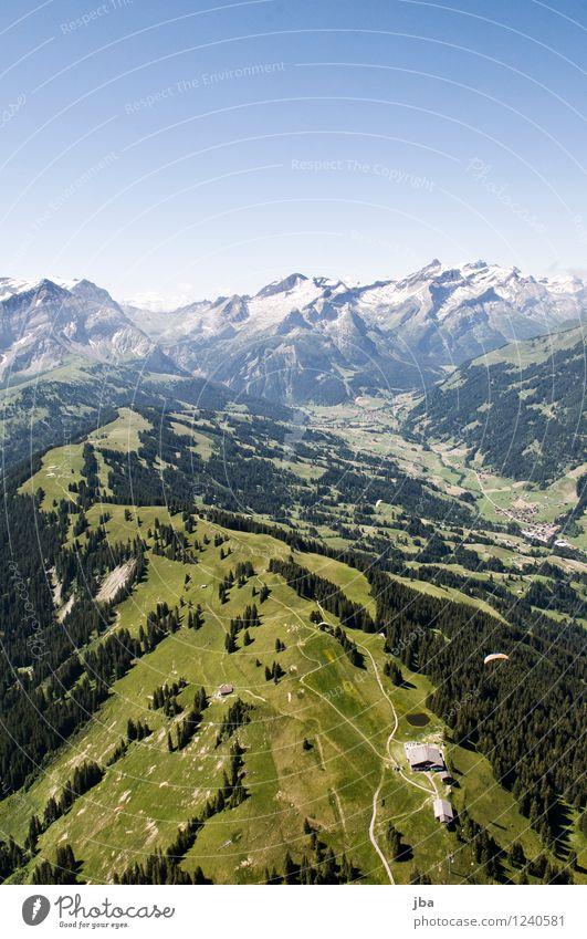 Wispile - Staldenhorn - Grund VI Himmel Natur Sommer Erholung Landschaft ruhig Ferne Berge u. Gebirge Sport Freiheit fliegen Felsen Zufriedenheit Luft