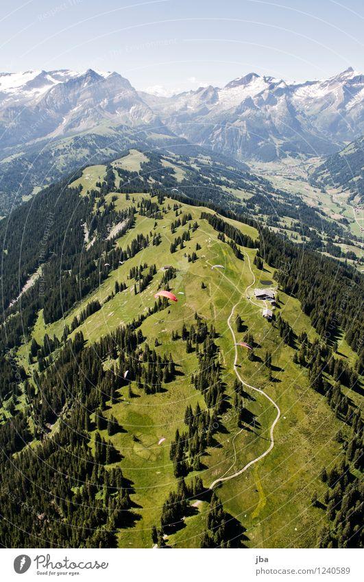 Wispile - Staldenhorn - Grund IV Wohlgefühl Zufriedenheit Erholung ruhig Ausflug Freiheit Sommer Berge u. Gebirge Sport Gleitschirmfliegen Sportstätten Natur