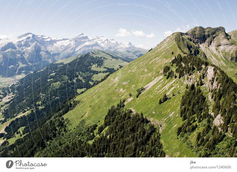Wispile - Staldenhorn - Grund X Himmel Natur Sommer Erholung ruhig Ferne Berge u. Gebirge Wärme Sport Freiheit fliegen Zufriedenheit Luft Luftverkehr hoch