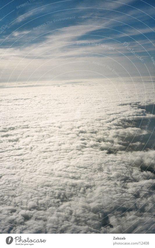 über den wolken... Flugzeug Luft Wolken Horizont Luftverkehr Himmel oben Sonne