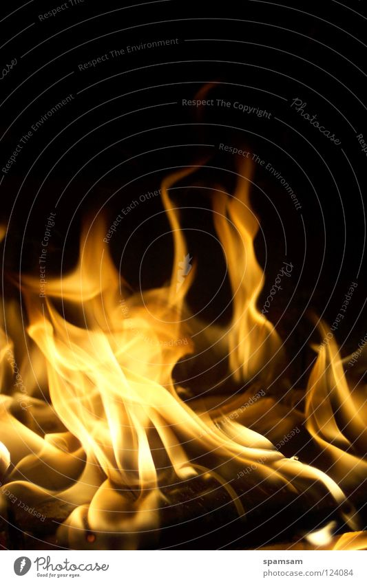 Flammentanz heiß gelb Brand Feuer brennen flames