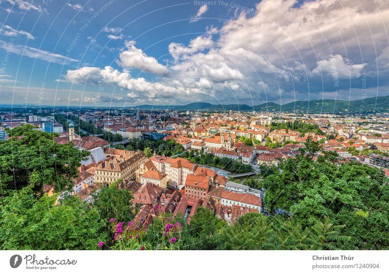 Aussicht über Graz Freizeit & Hobby Ferien & Urlaub & Reisen Tourismus Ausflug Abenteuer Ferne Sightseeing Städtereise Sommer Sommerurlaub Berge u. Gebirge