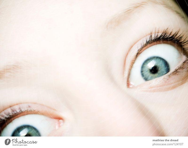 Open Up Your Eyes Mensch Frau alt schön Freude Gesicht Auge Kopf Glück Beleuchtung braun offen Haut groß Fröhlichkeit einzigartig