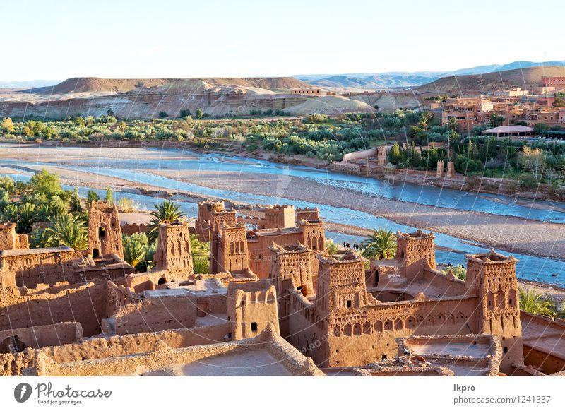 in der alten Stadt Marokkos Ferien & Urlaub & Reisen Tourismus Sommer Berge u. Gebirge Haus Kultur Landschaft Sand Himmel Hügel Fluss Dorf Kleinstadt