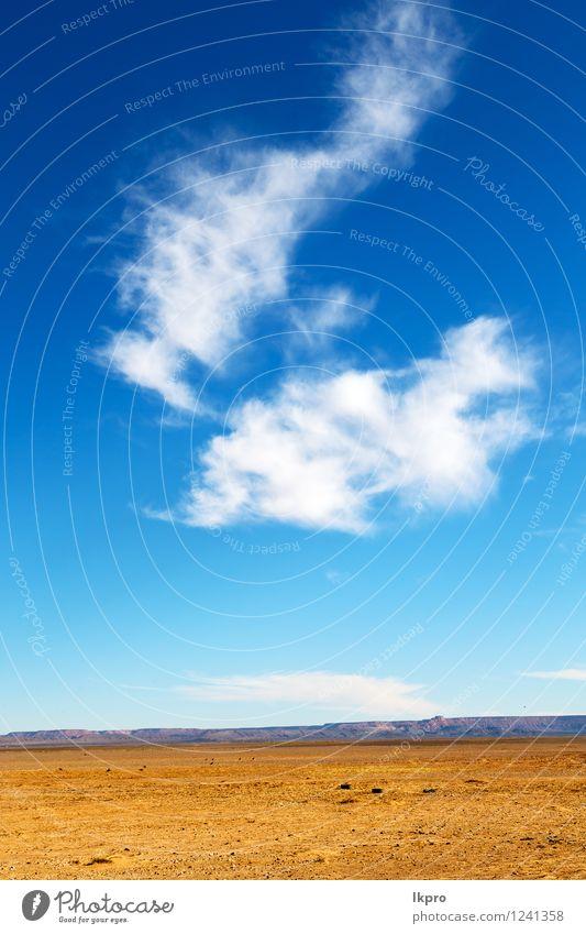 Marokko Sahara und Rock Stein Himmel Design Ferien & Urlaub & Reisen Sommer Meer Berge u. Gebirge Wissenschaften Umwelt Natur Landschaft Pflanze Sand Hügel