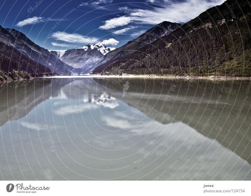 Still. Leben. Natur Wasser Himmel Ferien & Urlaub & Reisen ruhig Wolken Tier Ferne Berge u. Gebirge Freiheit See Landschaft Zufriedenheit wandern Idylle Teich