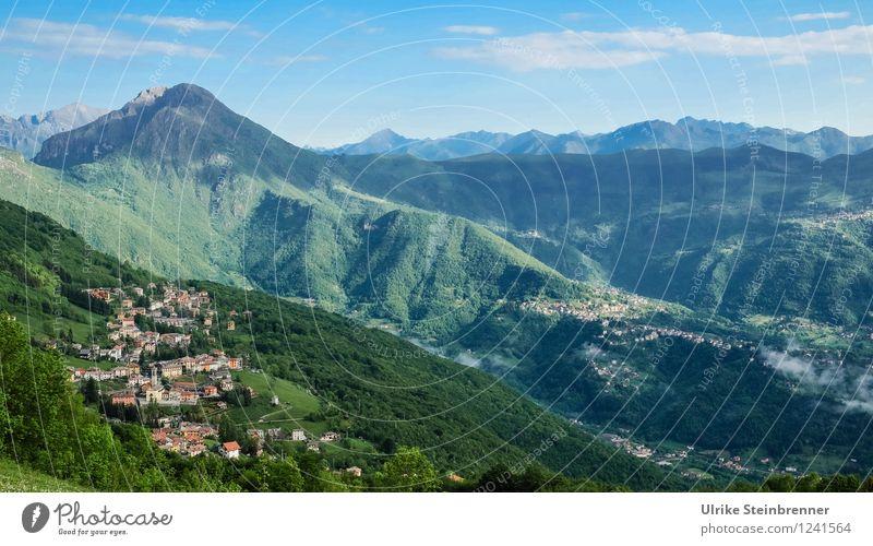 Villeggiatura 1 Ferien & Urlaub & Reisen Tourismus Sommer Sommerurlaub Berge u. Gebirge wandern Umwelt Natur Landschaft Himmel Schönes Wetter Wald Gipfel