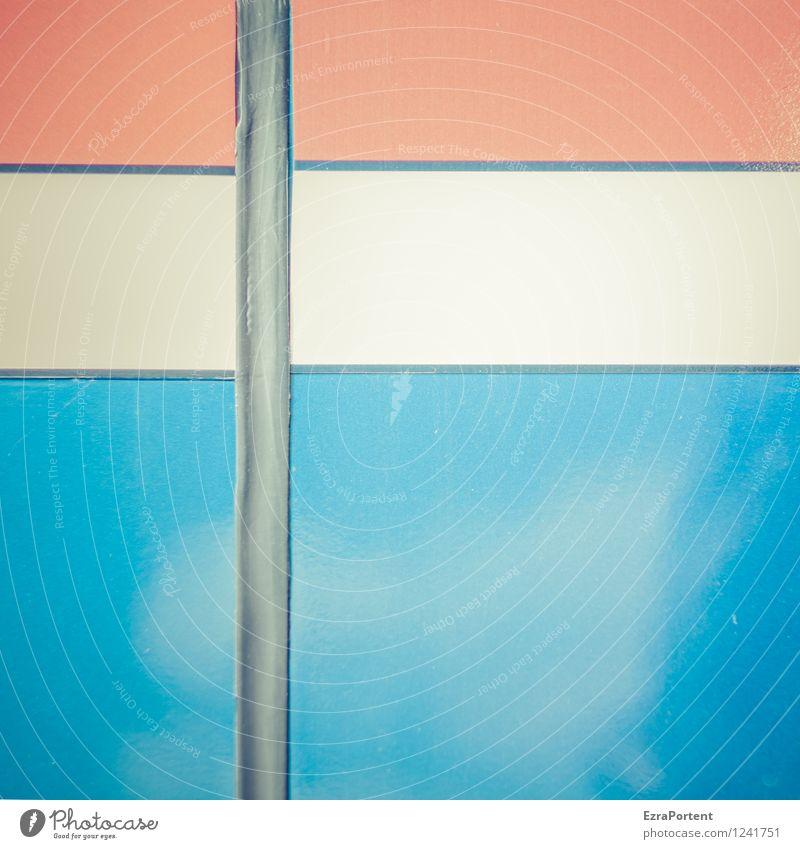 Holland Stil Design Linie Streifen hell blau rot weiß Farbe Karosserie Strukturen & Formen Hintergrundbild Grafik u. Illustration Grafische Darstellung