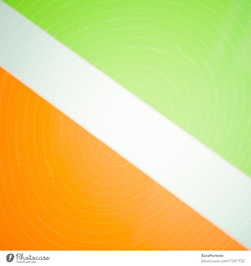 flixebil elegant Stil Design Zeichen Linie Streifen ästhetisch hell grün orange weiß Farbe Strukturen & Formen diagonal Geometrie Grafik u. Illustration