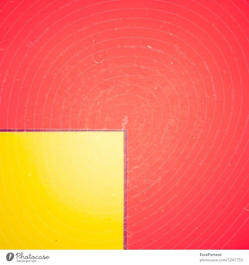 q in Q Stil Design Linie Streifen gelb rot Farbe leuchten Strukturen & Formen Quadrat Kratzer Grafik u. Illustration Grafische Darstellung graphisch Farbfoto