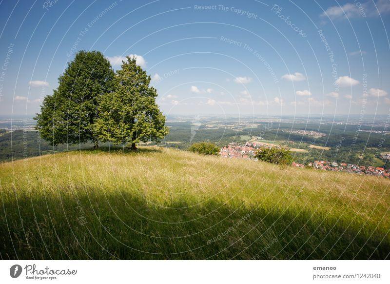 Alb Himmel Natur Ferien & Urlaub & Reisen Pflanze grün Sommer Baum Erholung Landschaft ruhig Ferne Berge u. Gebirge Wiese Freiheit Freundschaft Wetter