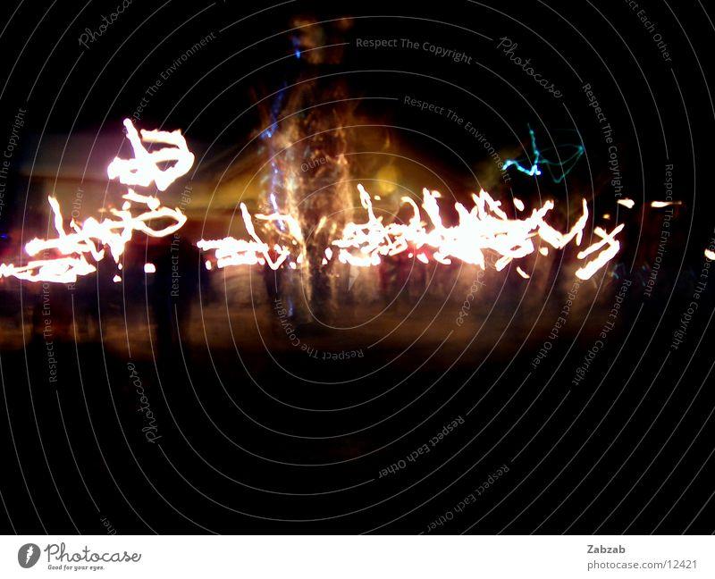 fest, fest 2 Langzeitbelichtung Nacht Licht Winter kalt Club Party Brand Mensch Farbe
