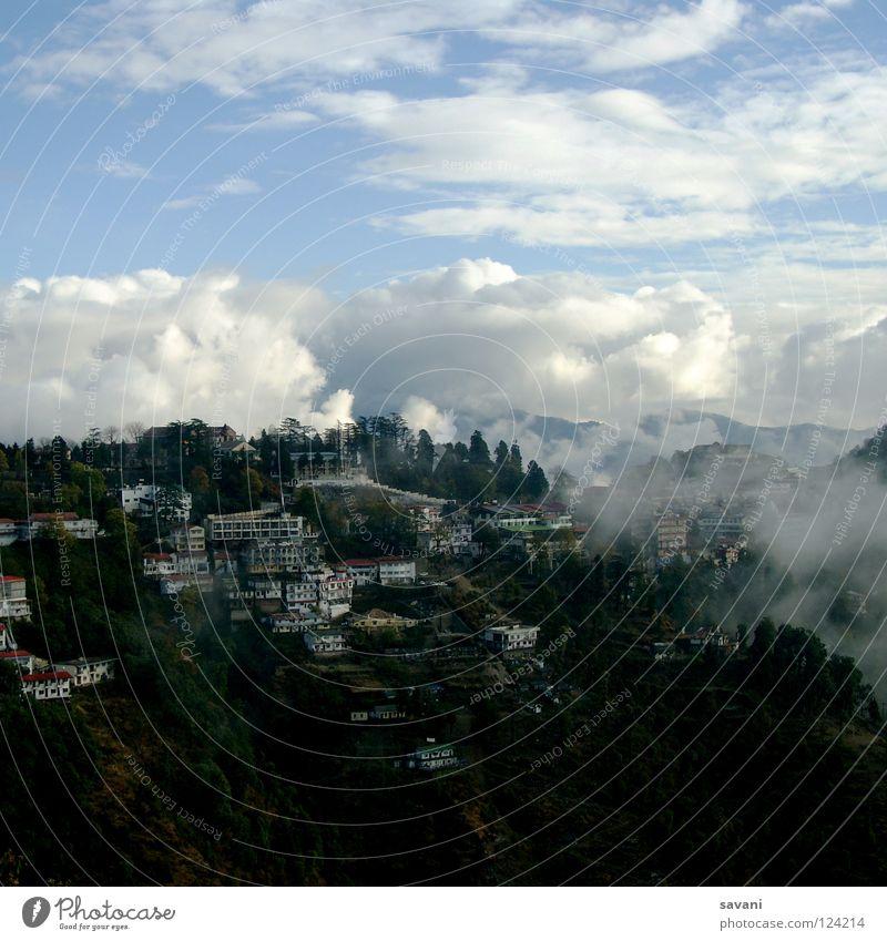 Himalaya II Himmel Natur Ferien & Urlaub & Reisen Wolken Haus Wald Schnee Berge u. Gebirge Landschaft Nepal Nebel hoch Klettern Asien Gipfel tief