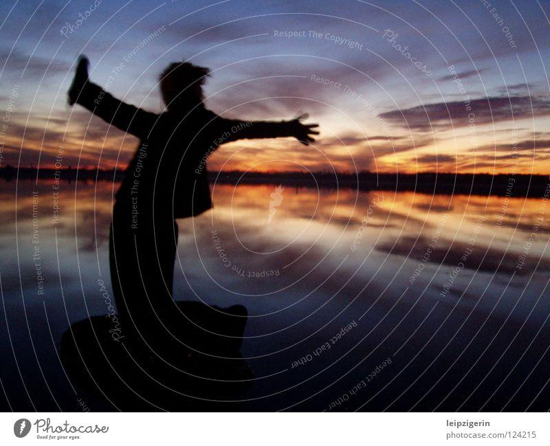 Freiheit Himmel Meer Wolken Ferne Gefühle Küste See Stimmung Bildung Idylle Spiegel