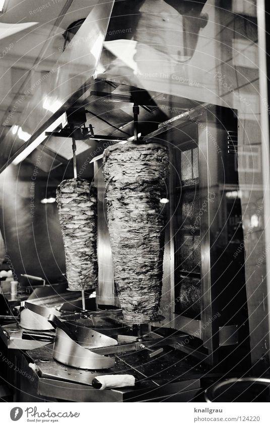Gammel-Hammel Kebab lecker Imbiss Küche Türkei frisch Skandal Schaf Fleisch Grill Fenster Reflexion & Spiegelung dick Fett Fastfood Kreuzberg knusprig mollig