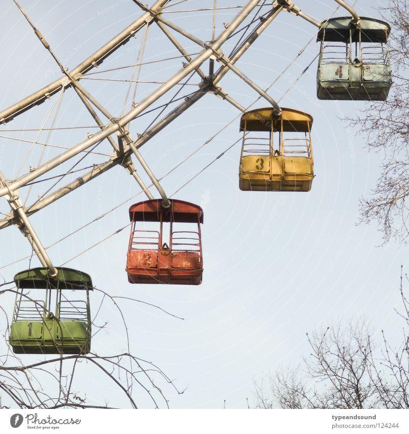 Gorki Four alt Freude Winter Farbe Traurigkeit Freizeit & Hobby 4 Jahrmarkt Russland Wahrzeichen Nostalgie Rest Ziffern & Zahlen Riesenrad Moskau veraltet