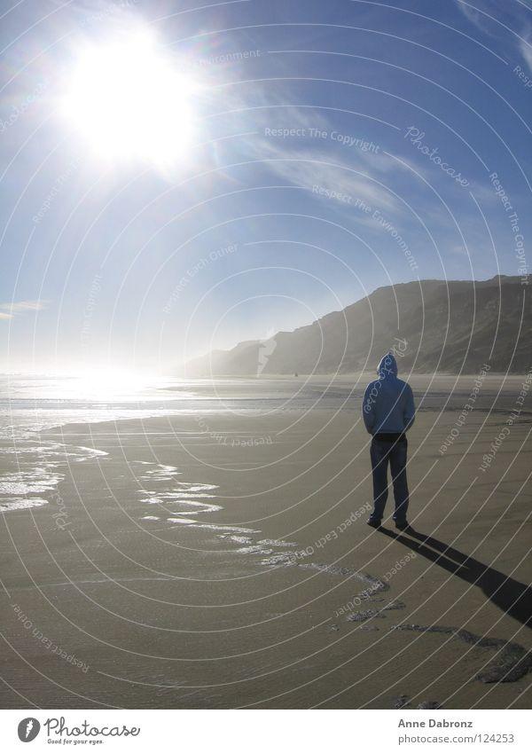 Der Sonne entgegen schön Himmel Meer Sommer Strand ruhig Neuseeland