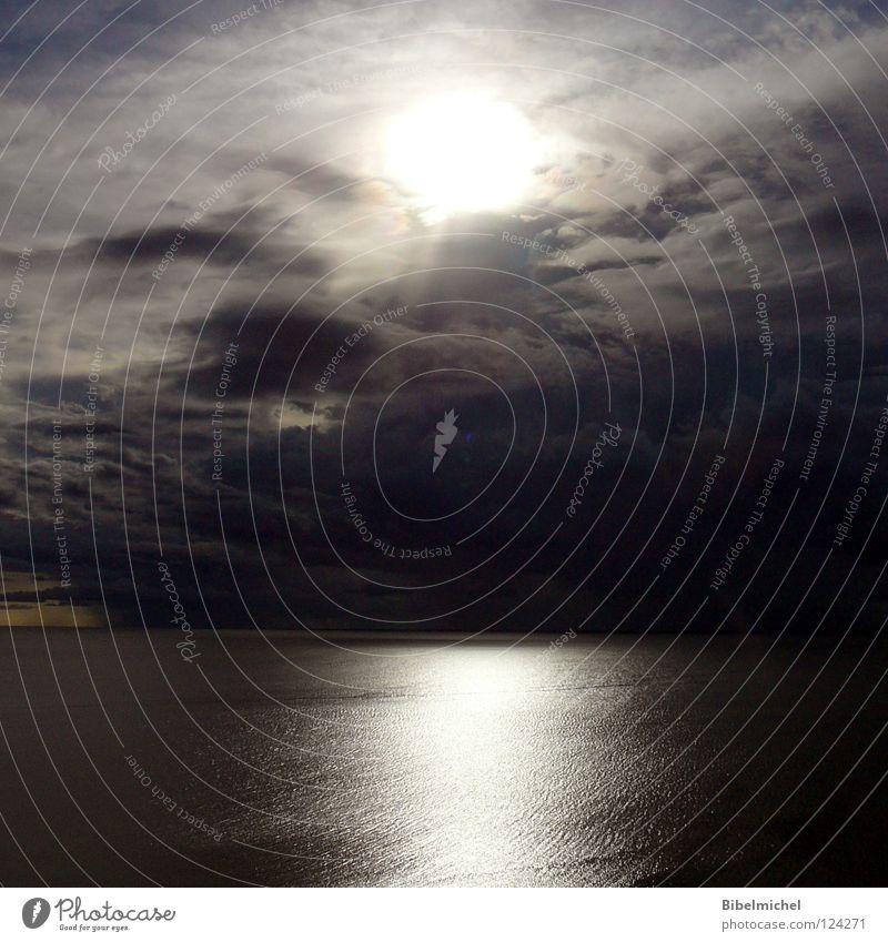Der Himmel ist offen Ferien & Urlaub & Reisen blau schön Sommer weiß Sonne Meer Erholung Wolken ruhig dunkel schwarz grau fliegen oben