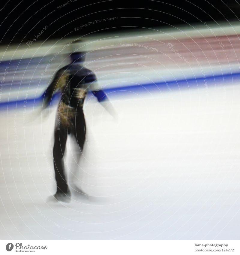 Overture [PIXELS IN MOTION] Mensch weiß schwarz Sport Bewegung Kunst Eis elegant laufen Geschwindigkeit Streifen fahren Symbole & Metaphern Fernseher