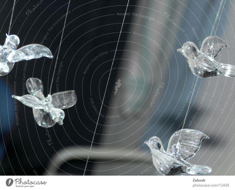 vogelmobilee Vogel Luft hängend Häusliches Leben Mobilee Glas Nähgarn Luftverkehr fliegen