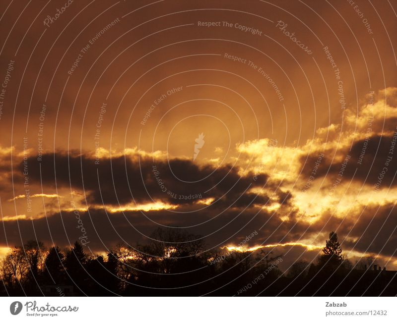 sonnenstrahlen Wolken Sonnenuntergang Romantik Licht dunkel Abend Beleuchtung Wetter Kitsch hell