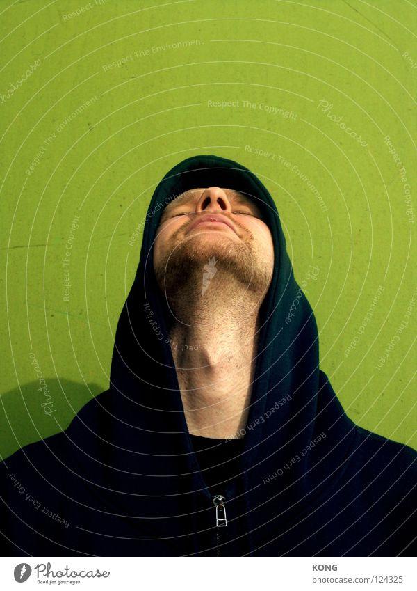 darth green Mann grün Gesicht hoch frisch Konzentration Hals Kapuze Kehlkopf