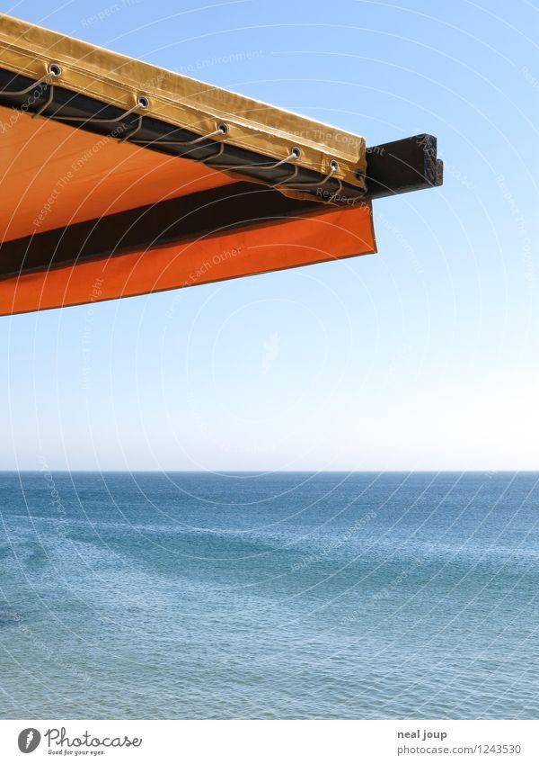 Summertime easyness Ferien & Urlaub & Reisen blau Sommer Wasser Erholung Meer Einsamkeit ruhig Ferne gelb Glück Horizont träumen Zufriedenheit Freizeit & Hobby Tourismus
