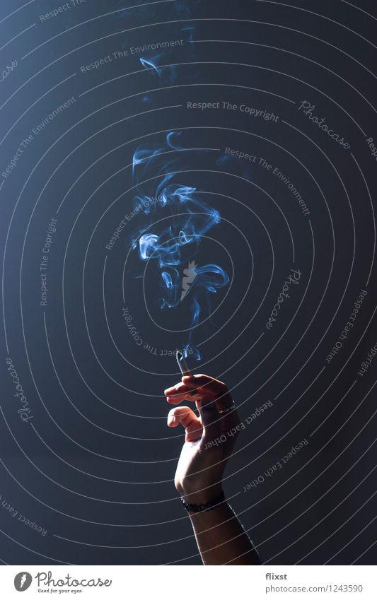 Rauchästhetik feminin Junge Frau Jugendliche Hand 1 Mensch 18-30 Jahre Erwachsene Rauchen rauchend Rauchpause Farbfoto Innenaufnahme Textfreiraum links
