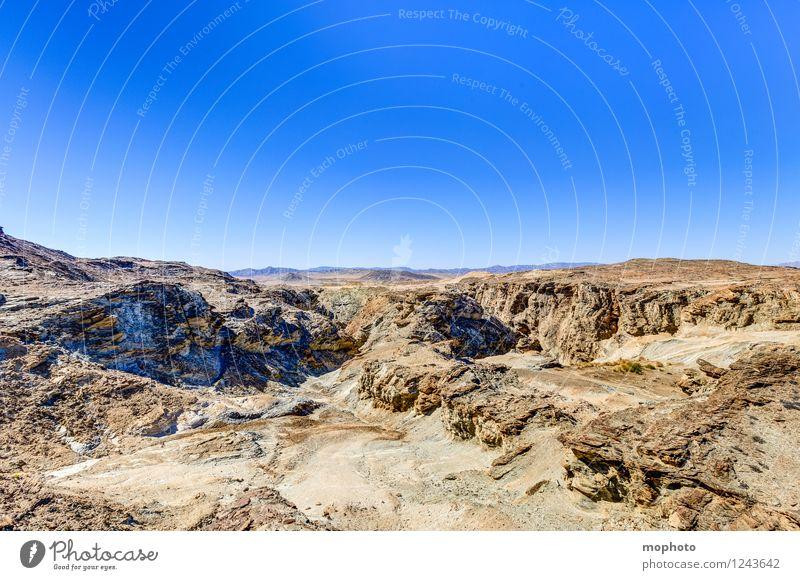 Wildnis Natur Ferien & Urlaub & Reisen blau Einsamkeit Landschaft Umwelt Wärme Stein braun Sand Felsen Horizont Tourismus Erde Klima Urelemente