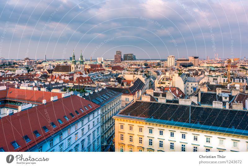 Wien City Ferien & Urlaub & Reisen Stadt Sommer Sonne Wolken Haus Umwelt Architektur Gebäude Zufriedenheit Freizeit & Hobby Tourismus Hochhaus Ausflug