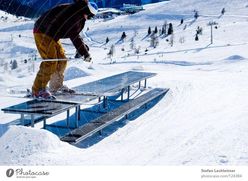 Tableslide II schön Winter Berge u. Gebirge Schnee Hintergrundbild Freiheit springen Freizeit & Hobby Tisch groß Show Körperhaltung Alpen Risiko Skifahren Reihe
