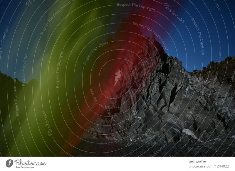Island Kunst Tanzen Umwelt Natur Landschaft Urelemente Klima Felsen Küste Bewegung ästhetisch außergewöhnlich dunkel eckig kalt natürlich verrückt wild grün rot