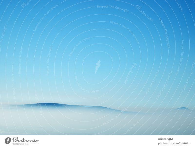 true blue. schön Himmel weiß blau Ferien & Urlaub & Reisen ruhig Wolken dunkel Erholung oben Berge u. Gebirge grau Wege & Pfade Denken Luft hell