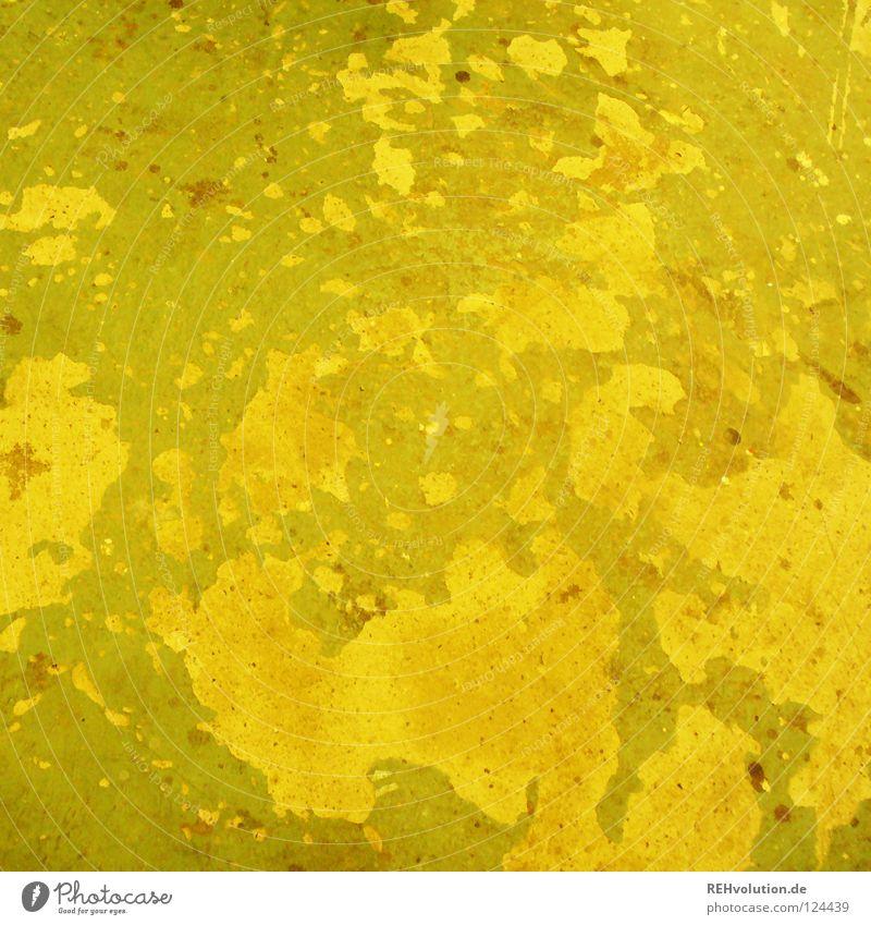 gelbgrün alt grün gelb Hintergrundbild dreckig Vergänglichkeit Bodenbelag Verfall unten schäbig Oberfläche abblättern rau scheckig Farbton Gelbstich
