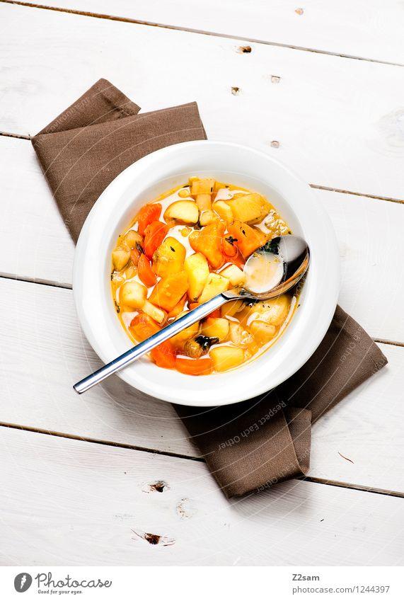 Lecker Eintopf weiß Wärme natürlich Gesundheit Lebensmittel Gesundheitswesen frisch elegant Ernährung genießen Kräuter & Gewürze Gemüse lecker Bioprodukte