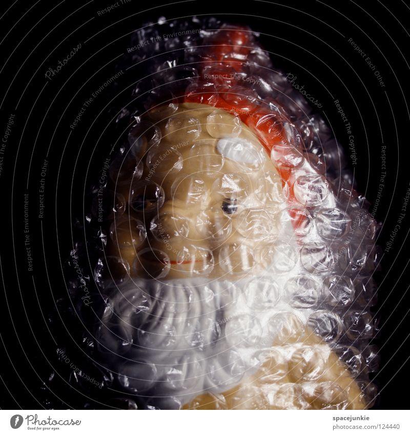 Reisevorbereitung Ferien & Urlaub & Reisen Freude Garten Sicherheit Kitsch Schutz Dorf skurril Statue durchsichtig Luftblase Heimat Paket Verpackung Zwerg