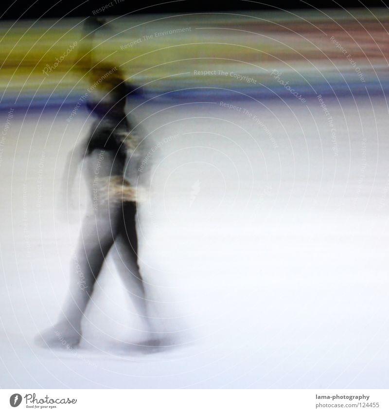Victory [PIXELS IN MOTION] Mensch weiß Freude schwarz Sport Bewegung Kunst Eis elegant laufen Geschwindigkeit Erfolg Streifen fahren Symbole & Metaphern