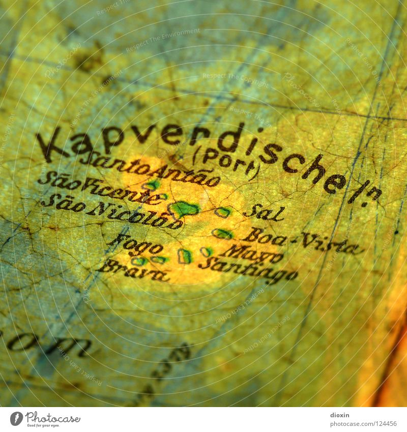 In 20 Tagen um die Welt; Tag3: Kapverdische Inseln Afrika Landkarte Unbewohnt Atlantik Cabo Verde Santa Maria Sal Seekarten Mindelo Fogo São Vicente Santo Antão