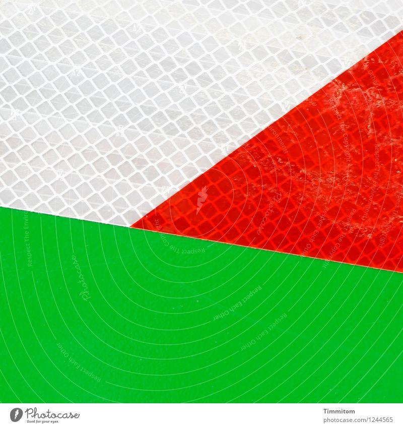 Jetzt mal Klartext! grün weiß rot Linie hell Ordnung ästhetisch Hinweisschild Klarheit Kunststoff Warnschild Folie
