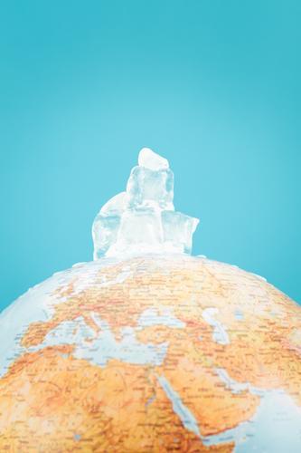 Natur blau Wasser Umwelt Wärme Erde Klima Idee heiß Ende Globus vertikal Norden sparen Klimawandel Planet