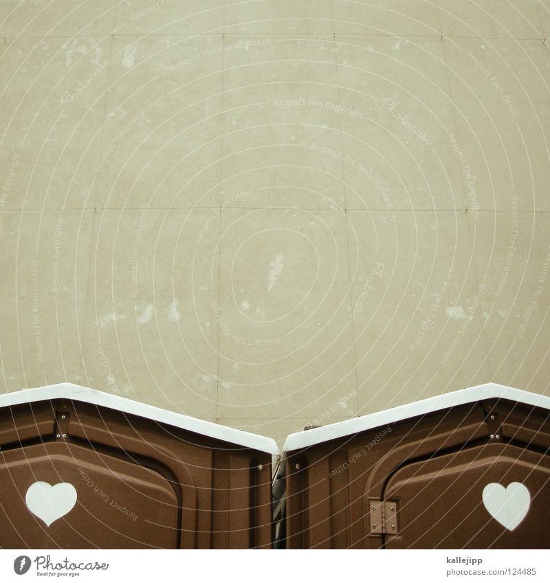 immer wieder bum, bum Tier Haus Liebe Leben Wand Graffiti Wärme klein Paar braun Zusammensein Herz groß Schriftzeichen paarweise Baustelle