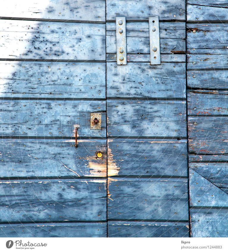 Ferien & Urlaub & Reisen Stadt alt blau grün Haus schwarz Architektur Metall Fassade Tourismus dreckig Tür Europa Italien Sicherheit