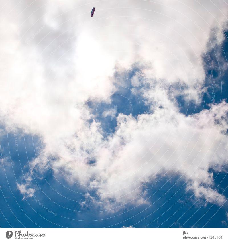 unter den Wolken Himmel Natur blau Sommer weiß Erholung ruhig Ferne Sport grau Freiheit fliegen Zufriedenheit Freizeit & Hobby Luft