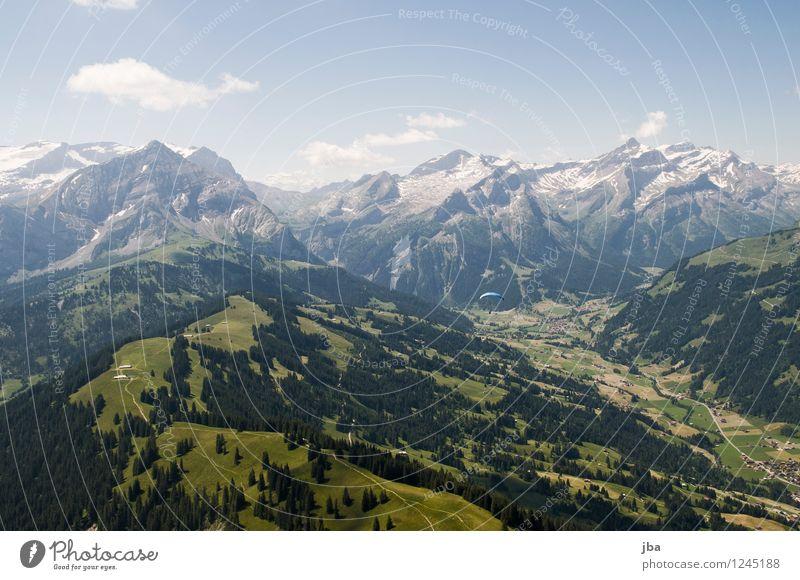 hängen und gleiten Wohlgefühl Zufriedenheit Erholung ruhig Ausflug Freiheit Sommer Berge u. Gebirge Sport Gleitschirmfliegen Sportstätten Landschaft Urelemente