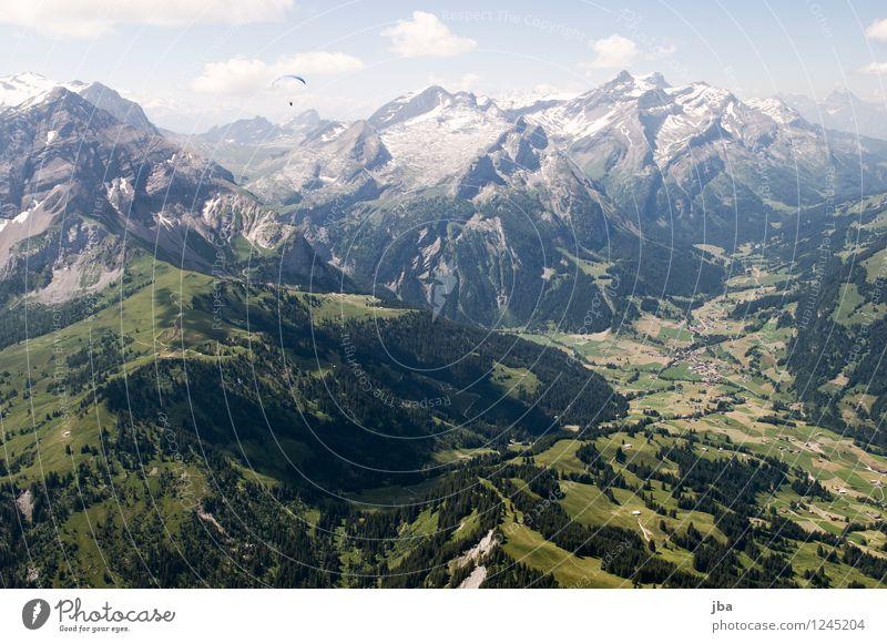 auf zum Spitzhorn Himmel Sommer Erholung Landschaft ruhig Ferne Umwelt Berge u. Gebirge Sport Freiheit fliegen Felsen Zufriedenheit Freizeit & Hobby Luft