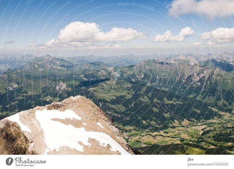 Spitzhorn-Gipfel Himmel Sommer Erholung ruhig Ferne Berge u. Gebirge Umwelt Sport Freiheit fliegen Lifestyle Felsen Zufriedenheit Freizeit & Hobby Luft